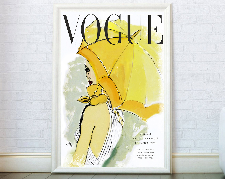 Vogue Cover Print Fashion Wall Art. Vogue Poster Fashion Print