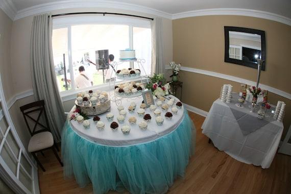 Custom tulle table skirt wedding birthday new baby junglespirit Choice Image