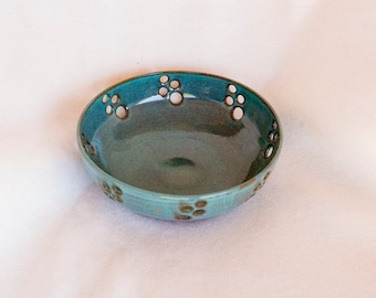 handmade pottery, handmade pottery bowl, pottery bowl, pottery turquoise bowl, turquoise bowl, decorative bowl, turquoise decor bowl