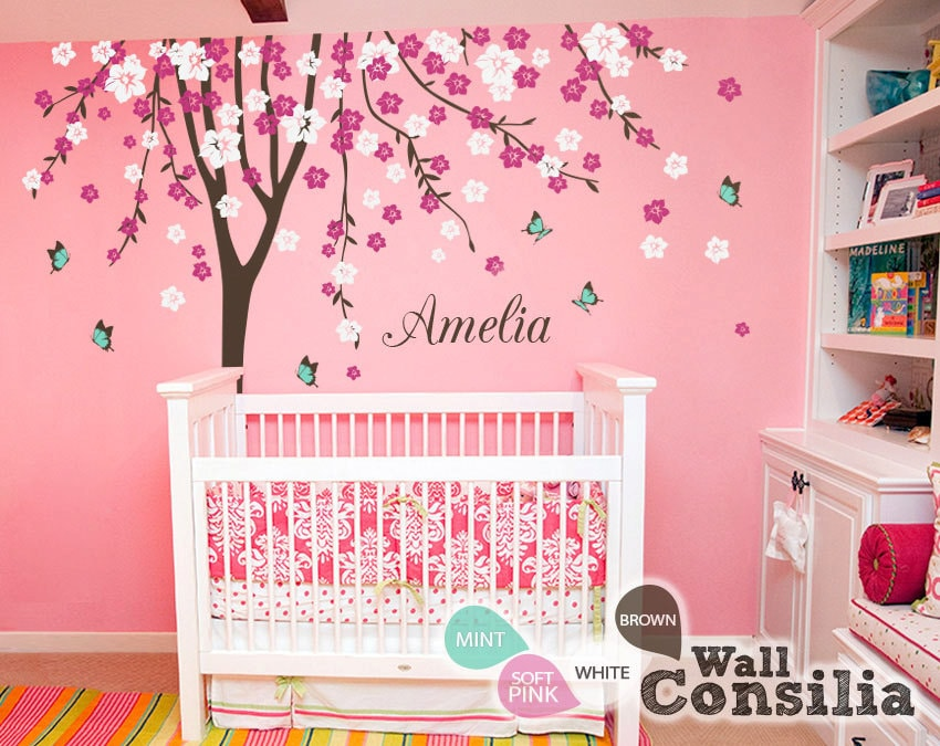 baby nursery wall decals cherry blossom tree wall decal tree