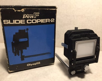 OLYMPUS Pen F slide copier 2 + original box Vintage Photography equipment