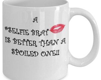 Selfie brat coffee mug