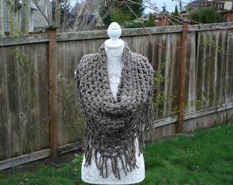 Crochet Fringe Scarf