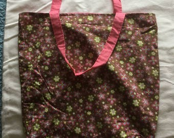 Flower reversible Tote bag