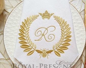 Machine Embroidery Design Napoleonic bee Blank Monogram
