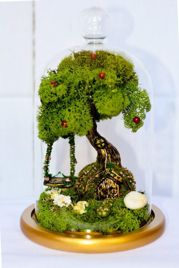 Fairy Garden, Terrarium, Fairy Garden Kit, Miniature Swing, Fairy Garden  Accessories, Fairy Tree House, Fairy Garden Set, Moss Terrarium,