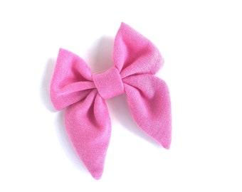Pink sailor hair bow - sailor bows, hair bows, girls hair bows, hair bows for girls, toddler hair bows, baby hair bows, fabric bows