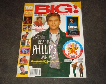 Big Teenage Vintage Magazine Collectable Memorabilia Patrick Swayze 8 Page Pull Out Spectacular Inc. Gatefold Poster Phillip Schofield Cover