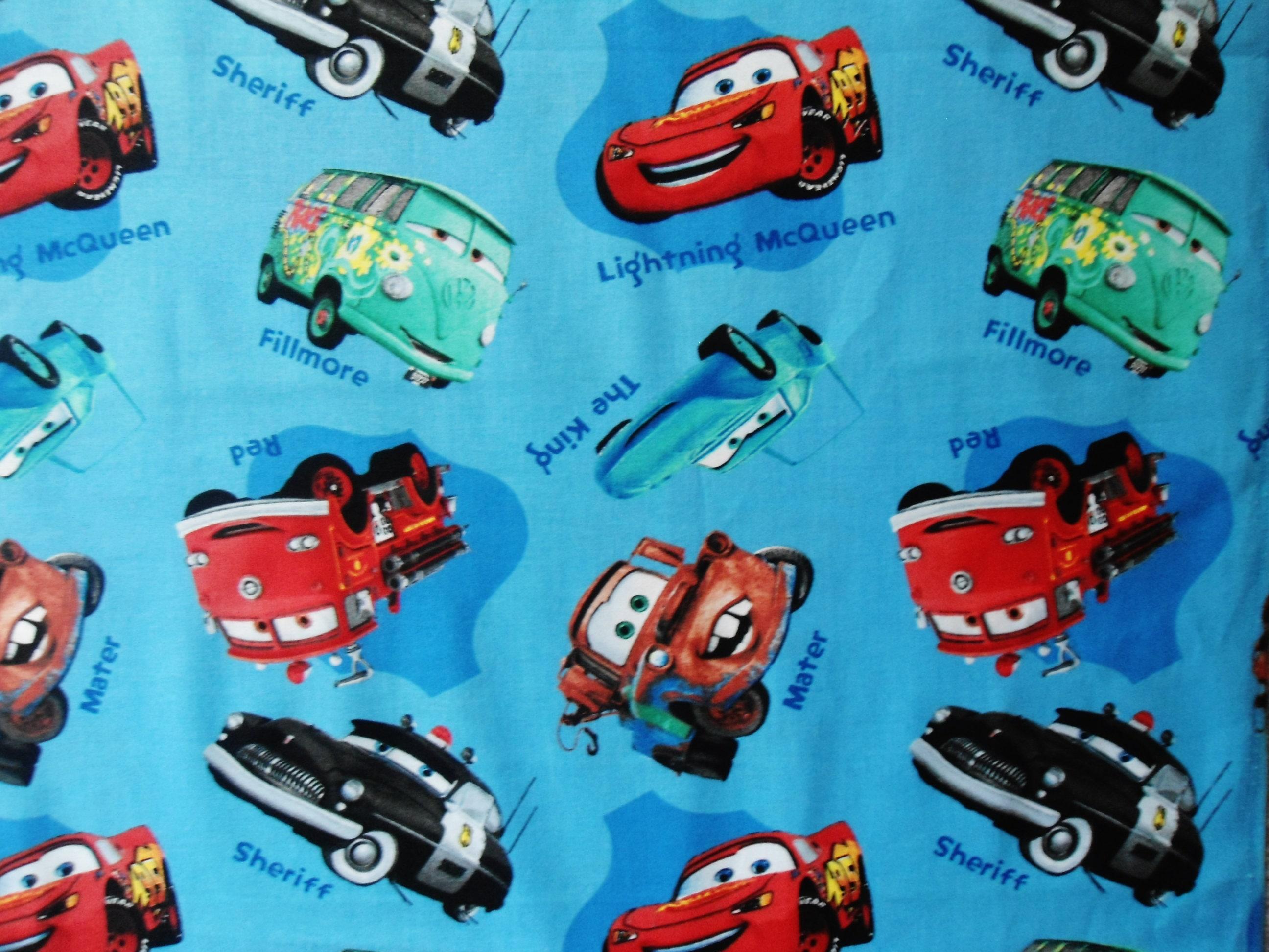 Disney Cars Fabric Lightning Mcqueen Mater Fillmore