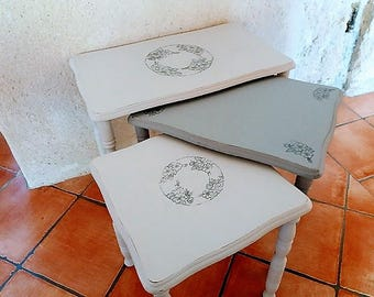 Grey nesting tables