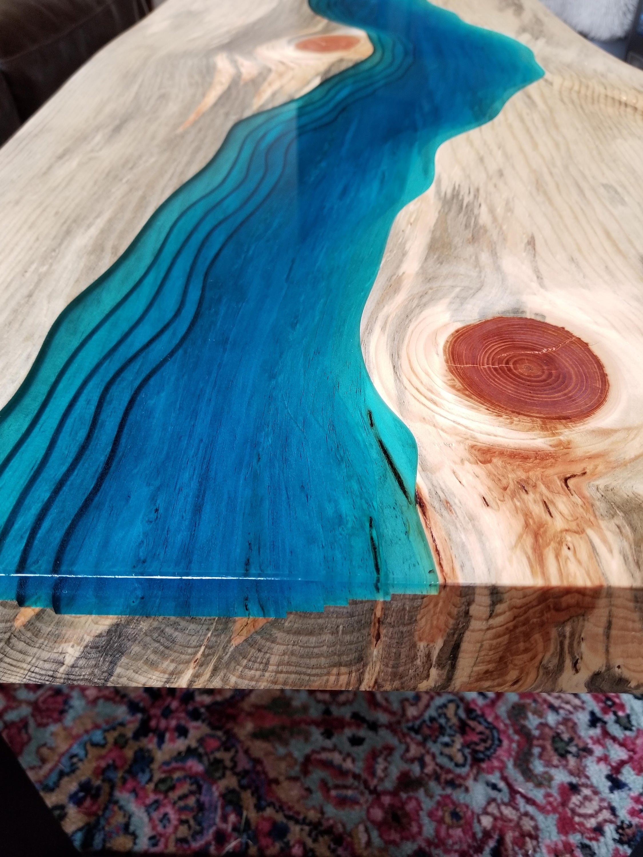 SOLD Epoxy River Coffee Table Live Edge
