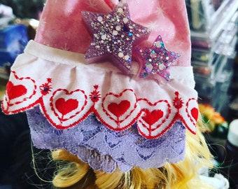 Cat Ear Fairy Kei Kawaii Pastel Goth Magical Star Hair Comb