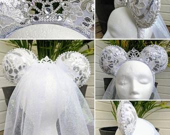 Wedding inspired Disney ears