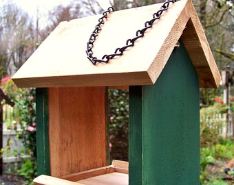 Rustic Bird Feeders, Non-Toxic, Eco-Friendly Bird Feeders, Cedar Feeder,  Hand-Crafted, Hanging Feeder , Pacific Northwest, Garden Accents