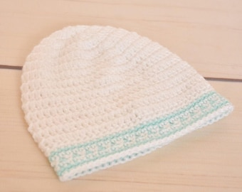 Crochet baby hat; baby boy hat; green baby hat; 0-3 baby hat; newborn baby hat; baby shower gift; newborn beanie; crochet newborn hat; gift