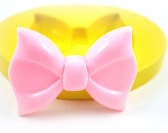 0717- Extra Large Jumbo Sized Bow Silicone Rubber Flexible Food Grade Mold Mould- resin, decoden, wax, soap, butter pat, fondant, cake
