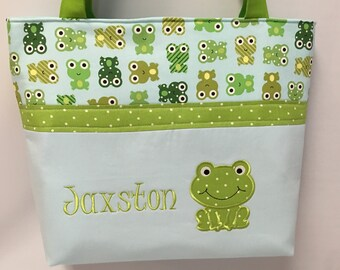 Freddie FROG ... Tote ...   DIAPER Bag ... Personalized Free