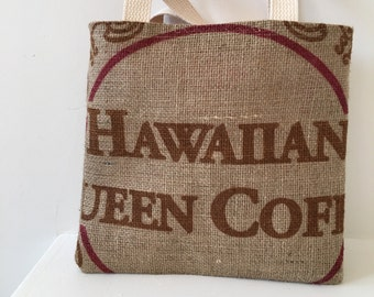 Girls Hawaiian Queen Burlap Tote/ Purse/ Handbag
