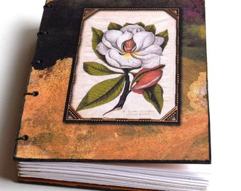 Dogwood Flower Journal, Hardcover Coptic Stitch Journal, Unique Journal