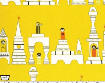 Les Monsieurs - Monsieur Blocks Yellow by Tamara Kate from Michael Miller