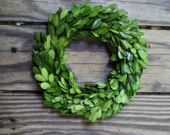 Boxwood Wreath  , Wedding Wreath , Small Round Boxwood ,Spring Wreath, Summer Wreath