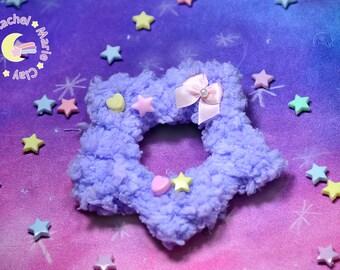 Fluffy Heart Brooch, Fairy Kei Brooch, Heart Brooch, Japanese Fashion, Sweet Lolita, Fairy Kei, Kawaii Accessories, Heart Clip