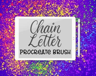 Chain Letter - lettering brush for Procreate app