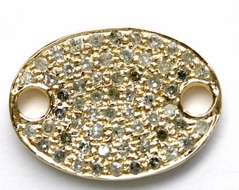Yellow Gold Flat Oval