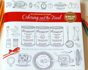 Colouring book for adults -  Coloring and the food