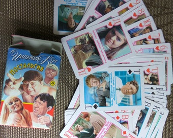 Hummorous Playing Cards Deck of cards Soviet films cards Soviet cards Russian Humor Humorous playing cards Funny cards 55 Cards