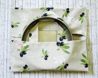 Casserole carrier - Reusable food bag - Baking pan carrier - BBQ bag - Pie holder - Pie bag - Cake holder - Food carrier - Caddy - Tailgate
