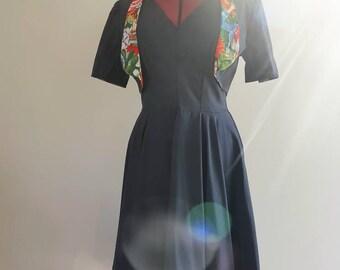 Reversible bolero with versitile black dress