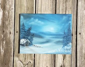 Original SnowScape Painting