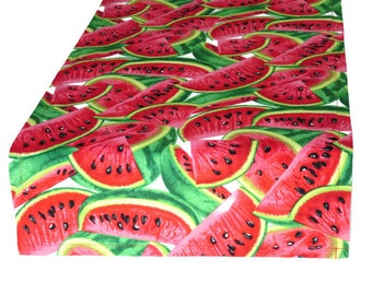 Watermelon Cloth Table Runner, in 8 Length Options, Summer Table Runner, Watermelon Decor, Watermelon Runner, Optional Matching Napkins
