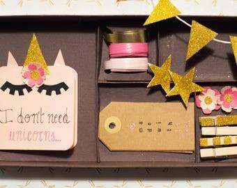 Kit for gift Packages Unicorns/gift packaging Kit Unicorns