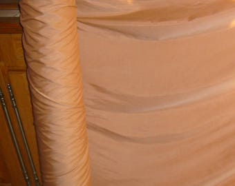 Fabric Brown salmon nylon has nuances width 142cm - ideal tablecloths, linings, sheer curtains, decor, etc...