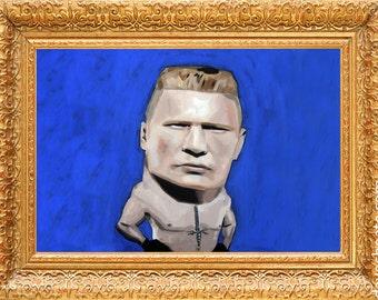 Brock Lesnar UFC. Art Photo Print