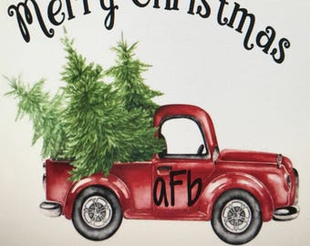 Personalized Christmas Truck Sublimation Transfers