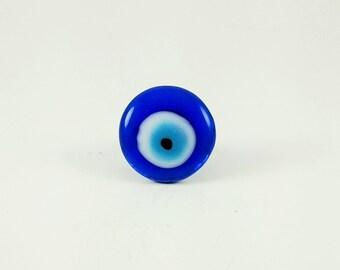 Small Evil Eye Statement Ring