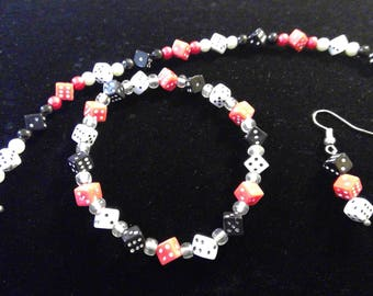 Dice Game / Bunco Bracelet and Earring Set