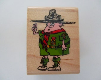 rubber stamp mounted on wood - Boy Scout - Inkadinkado