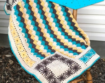 Stardust Baby Blanket Crochet Pattern PDF, Instant Download, crib blanket, photography prop, crochet afghan pattern, car seat blanket