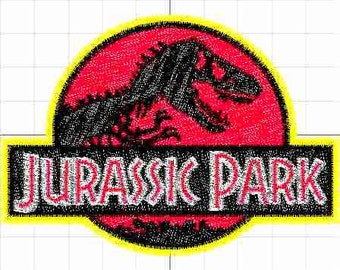 Jurassic park machine embroidery