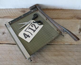Vintage Industrial Paper Cutter