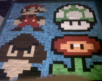 Mario Quilt Pattern