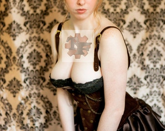 8x10 Signed Steam Pin up Cosplay Print #2
