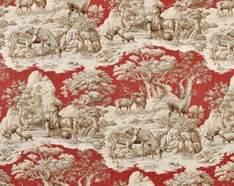 Ferguson Garnet, Braemore Fabric, Fabric By The Yard