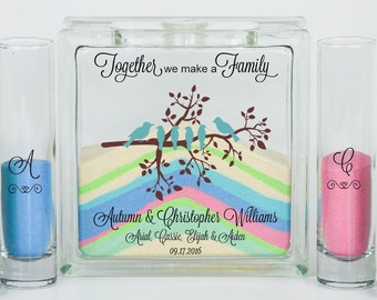 Blended Family Wedding Sand Ceremony Jar With Lid Unity