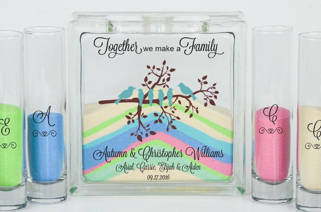 Blended Family Wedding Unity Sand Ceremony Set Unity Candle