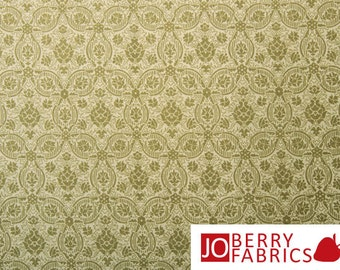 Savannah Green Medallion Fabric